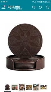 Brand New Leather Coasters