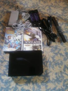 Nintendo wii system with games.