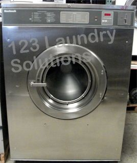 Coin Laundry Huebsch Front Load 80 lbs Washer 208-240v Stainless Steel HC80VXVQU60001 Used