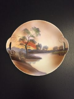 Noritake Hand painted Plate, 7 1/2 in diameter, good condition, Made in Japan