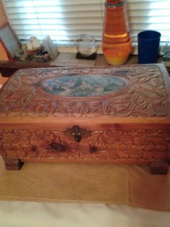 Beautiful Carved Wooden Box/ Jewelry or Papers
