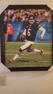 Autographed Jay Cutler framed canvas