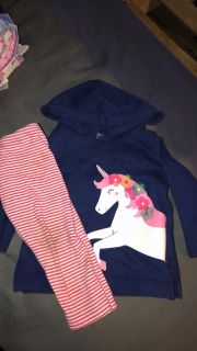 Hoodie and pants outfit 9m