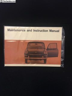NOS German glove box manual 1967 t-3