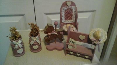 Wooden Doll House Furniture Items