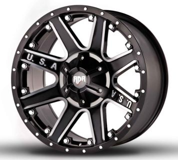 "Purchase 18"" RDR Offroad USA Black Machined 18x9.0 RDR # RD-04 Wheels Chevy Ford Dodge motorcycle in Victorville, California, US, for US $850.00"