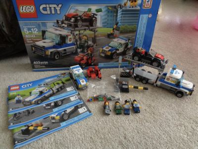 Lego City Auto Transport Heist w/manuals, box, all parts