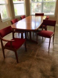 Solid Teak Table & Chairs