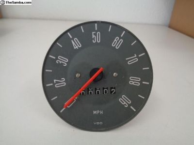 NOS Early Bay Bus 68 Only Speedomter Works