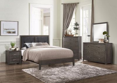 (BRAND NEW IN BOXES) Queen Size Gray Tuft Bedroom Set