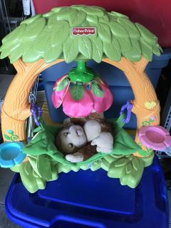 Monkey with bed