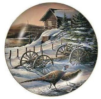 $30 Terry Redlin PEACEFUL EVENING Collector Plate (Fergus Falls)