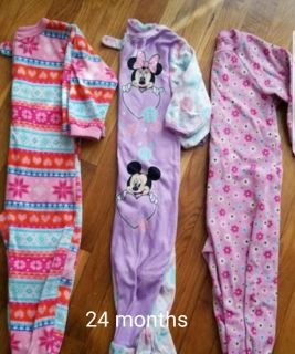 Lot of 24 month footed pajamas