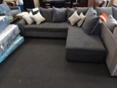 Dark Gray Sectional. 40 down take home today! NEW