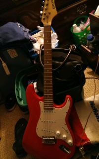 Excel Electric Guitar and Fender Amp