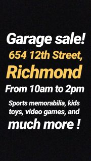 Garage Sale!Sports cards/memorabilia!WWE figures! Kids toys and more!
