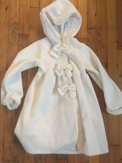 Girls size 6 coat with attached hood