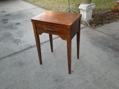 Antique Hall Table/ Singer machine