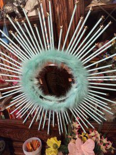 Starburst mirror wreath