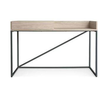 Blu Dot natural wood Swish console desk