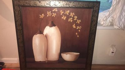 Rag orchid gallery art picture frame /cuadro