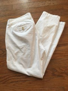 Old Navy White Cropped Pants Size 2