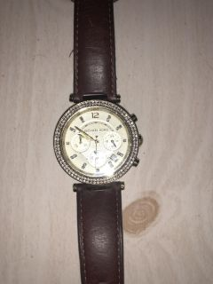 Brown leather Michael Kors watch