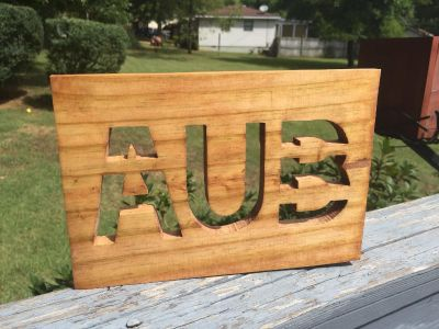 AUB wood sign w/hanger or magnets