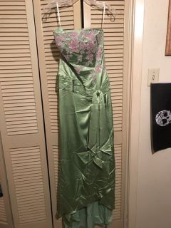 Green/pink flower Prom/Homecoming Dress