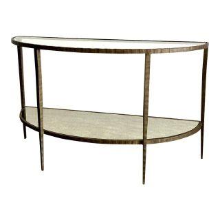 Crate & Barrel Demilune Console Table