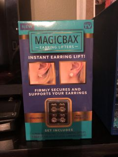 New Magicbax - Earring Lifter - 1 Sterling Silver & 1 18k Gold Plated