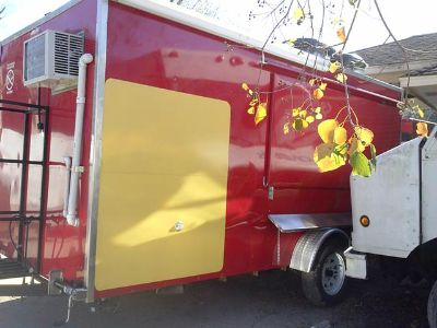 7x14 red food trailer