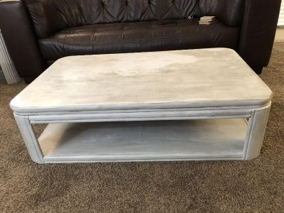 Distressed coffee and end table set
