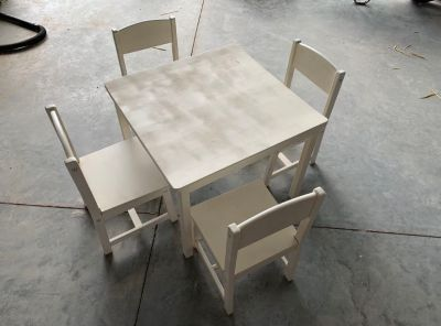 Kids wood table and 4 chairs