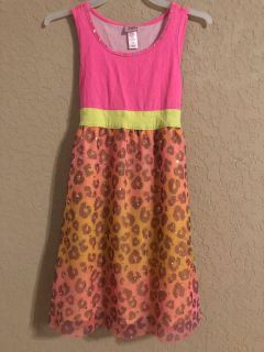Justice Brand Adorable Bright Bling Dress. Nice Condition. Size 7