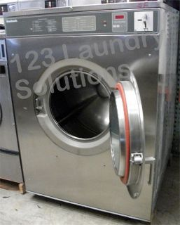 Coin Operated Huebsch Front Load 80 lbs Washer 208-240v Stainless Steel HC80VXVQU60001 Used