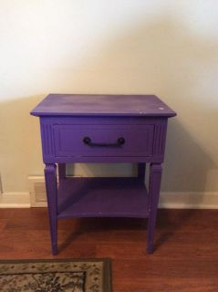 Nightstand with drawer.