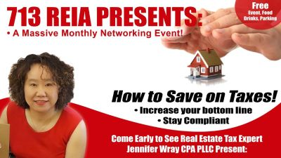 713 REIA: How to Save on Taxes!