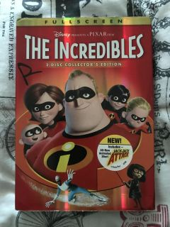 The Incredibles 2005 DVD (1st movie)