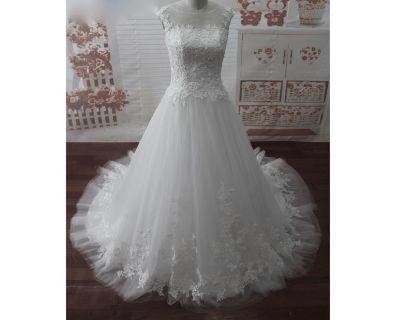 Patricia's A Line Lace Wedding Dress Size 10 Ivory