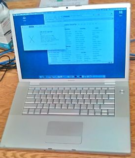 "Apple MacBook Pro 17"" (2008), Core 2 Duo, 4 GB RAM, 200 HDD, X.11 ""El"" & X.6 ""Snow"""