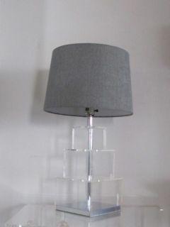 Vintage George Kovacs Lucite & Chrome Table Lamp