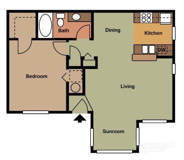 1 bedroom in Hudson