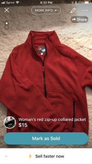 Woman s red jacket