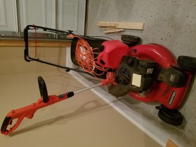 Snapper lawn mower & trimmer, etc