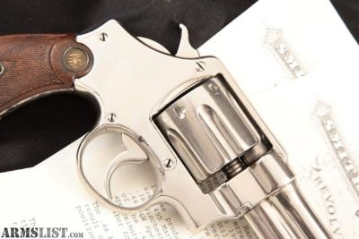 For Sale: Smith & Wesson S&W Rare .44 Hand Ejector 1st Model (New Century Triple Lock), Nickel 5 Da Revolver & Paperwork, MFD 1912 C&R .44 Special