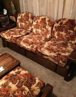 Wood Couch