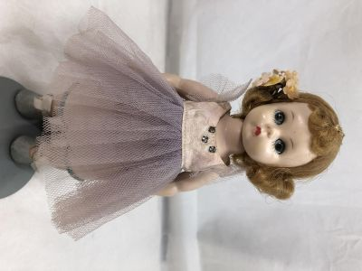 """Alex Doll Vintage 7.75"""" 19.7cm Jointed Green Sleep Eyes Blond Hair with Stand"""