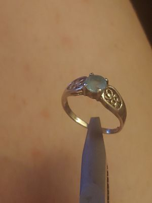 Sapphire in sterling silver vintage ring