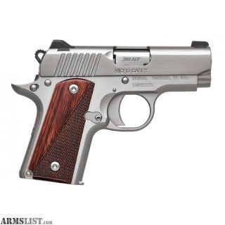 For Sale: Kimber Micro stainless rosewood Carry .380